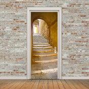Adhezívna samolepka na dvere Ambiance Stone Steps, 83 x 204 cm