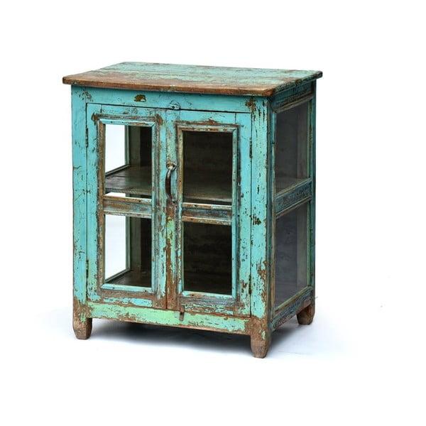 Presklená skriňa Goa 65x79 cm, modrá patina