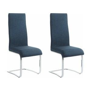 Sada 2 modrých jedálenských  stoličiek Støraa Teresa