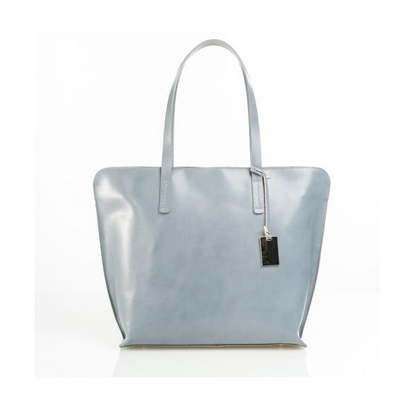 Kožená kabelka Aurel, sivá