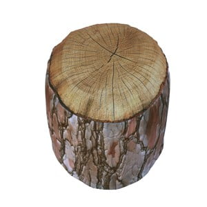 Nafukovací puf v tvare dreva Sunvibes