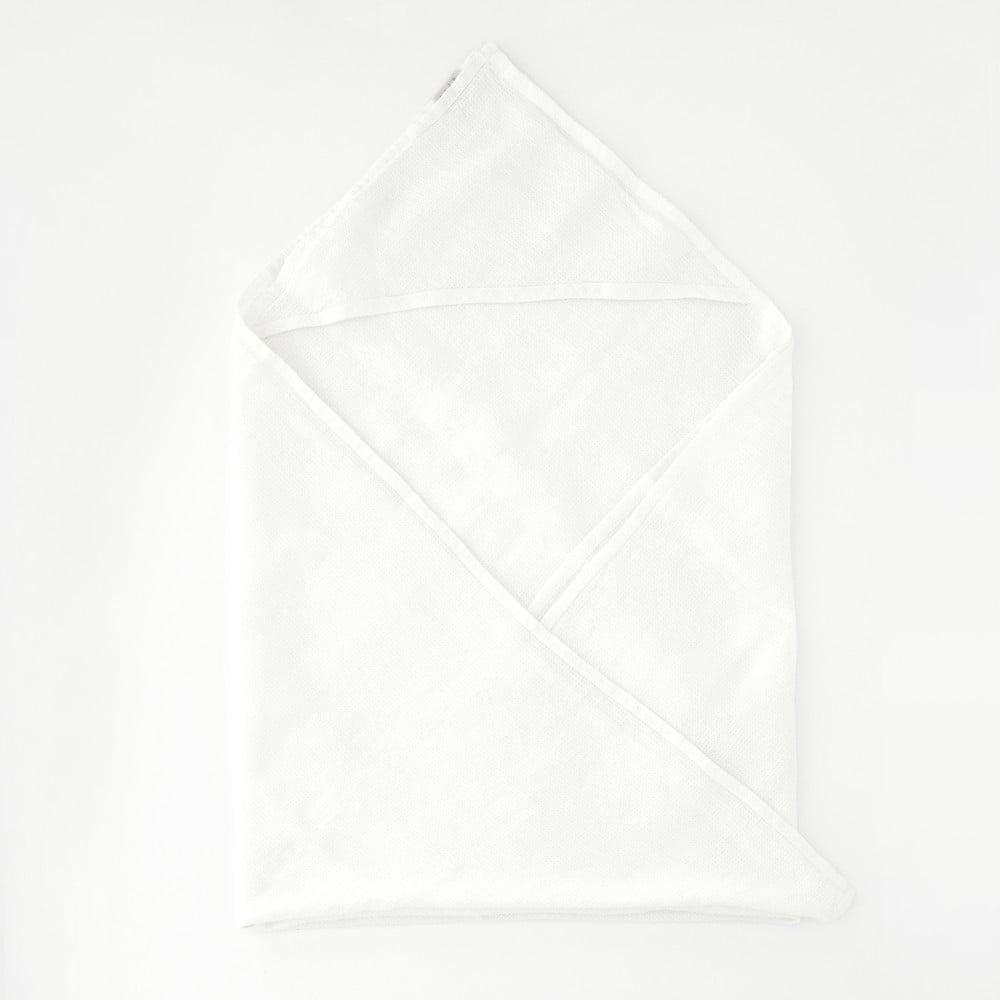 Detský biely ľanový uterák Linen Tales Waffle, 70 x 70 cm