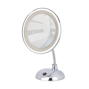 Chrómované zväčšovacie zrkadlo s LED svetlom Wenko Style