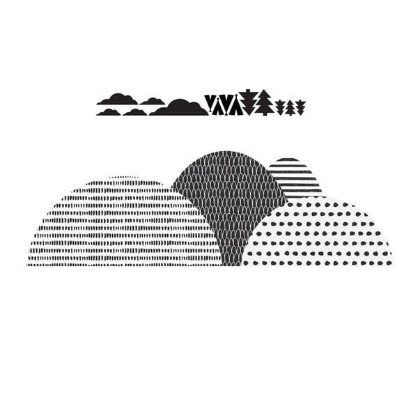 Nástenná samolepka Dekornik Mountains Scandi, 175×100 cm