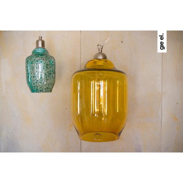 Sklenené svietidlo 40 cm, medové
