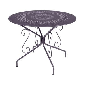 Lila kovový stôl Fermob Montmartre, Ø96cm