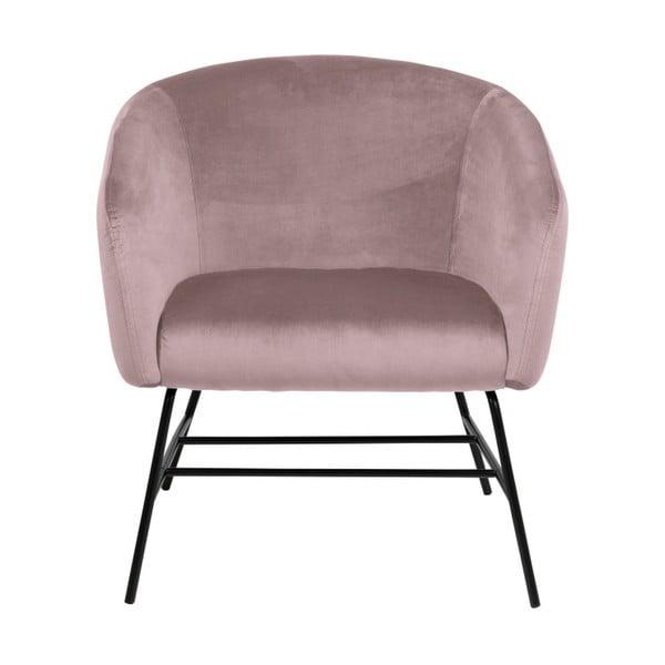 Pudrovoružová polstrovaná stolička Actona Ramsey