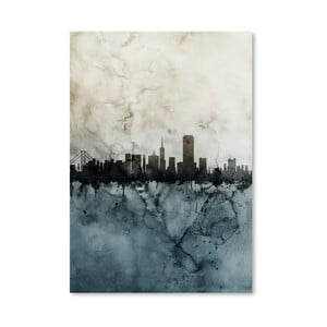 Plagát Americanflat San Francisco Skyline, 42 x 30 cm