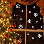 Elektrostatická vianočná samolepka Fanastick Bright White Snow