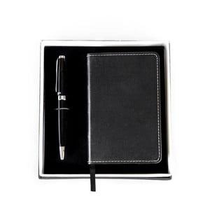 Set čierneho pera a zápisníka Balmain Ballpoint v darčekovej krabičke