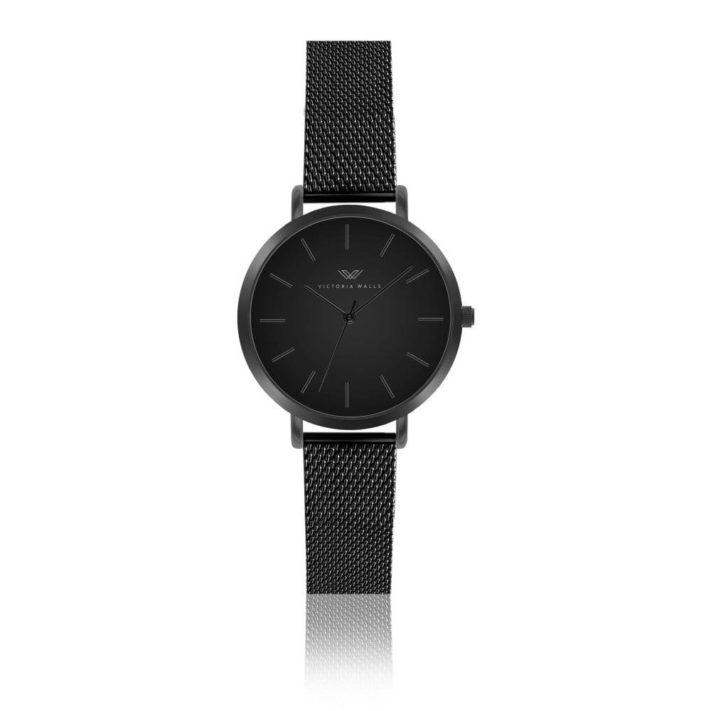 17a2509d6 Čierne dámske hodinky s remienkom z chirurgickej ocele Victoria Walls Negro