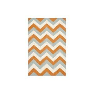 Vlnený koberec Harlow 121x182 cm, oranžový