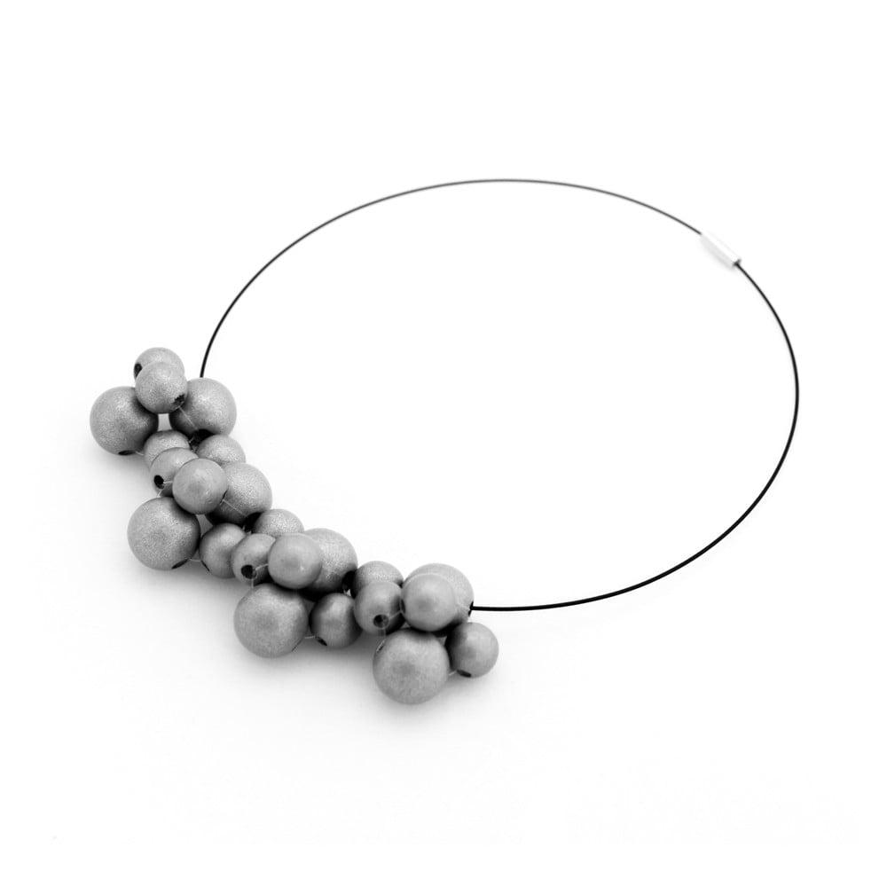 Strieborný drevený náhrdelník Ko–ra–le Bubbles