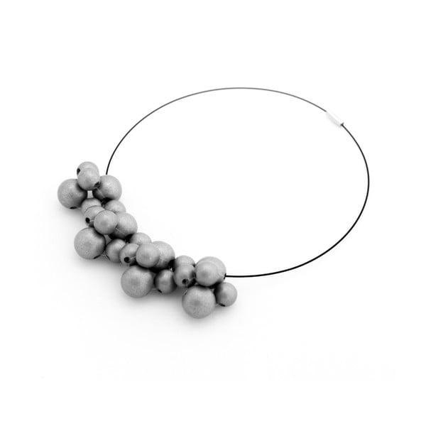 Strieborný drevený náhrdelník ko–ra–leBubbles