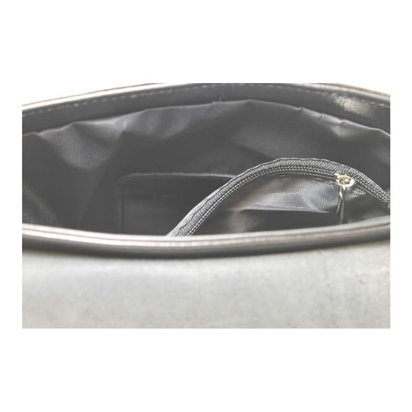 Čierna kožená taška Chicca Borse Valeria