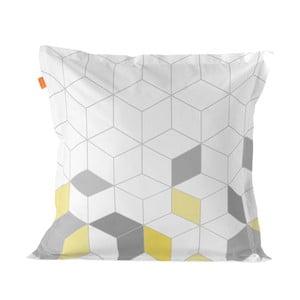 Balvnená obliečka na vankúš Blanc Symmetry Triangles, 60×60 cm