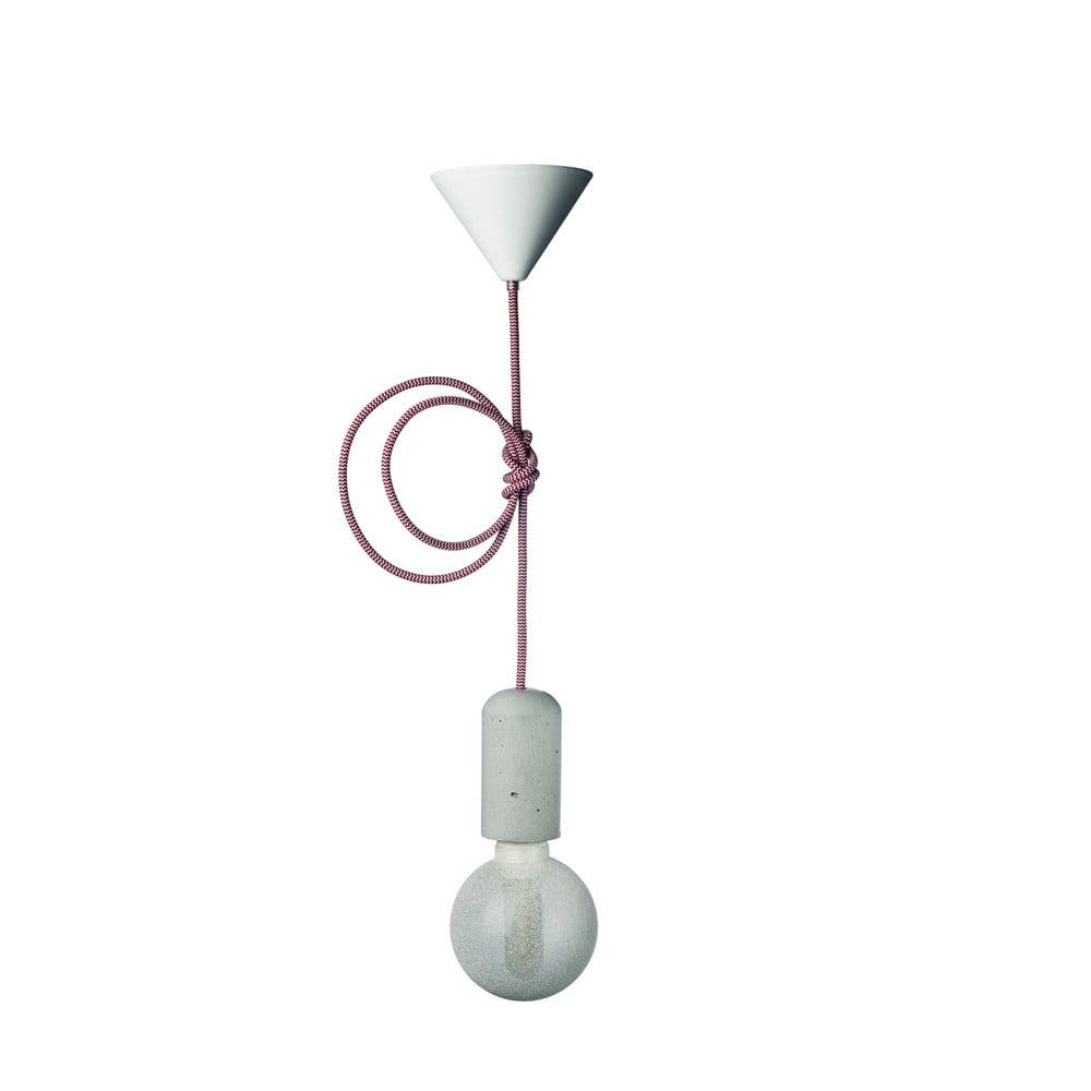 Červeno-biele svietidlo od Jakuba Velínského, 3 m