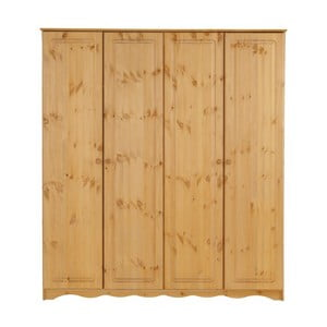 Štvordverová šatníková skriňa z masívneho borovicového dreva Støraa Amanda