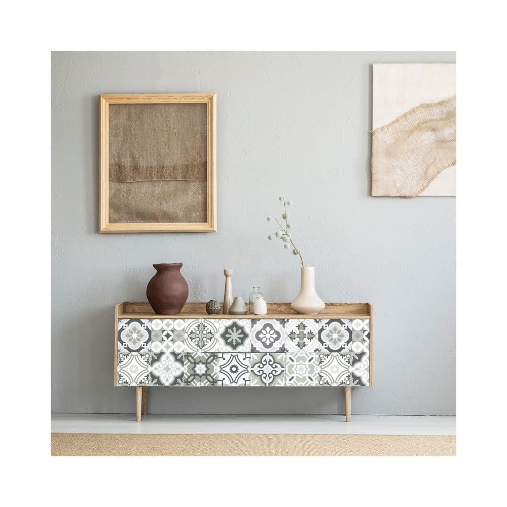 Sada 24 samolepiek na nábytok Ambiance Tiles Stickers For Furniture Belinda, 20 × 20 cm