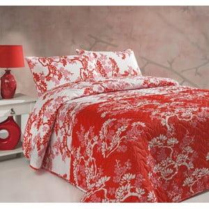 Sada prešívanej prikrývky na posteľ a dvoch vankúšov Double 276, 200x220 cm