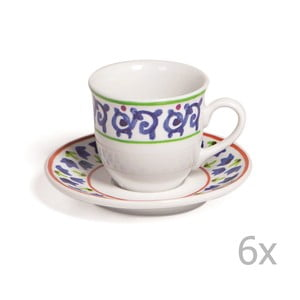 Sada 6 šálok s tanierikmi Toscana Gimignano, 100 ml