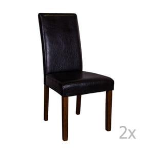 Sada 2 čiernych stoličiek s tmavými nohami House Nordic Mora