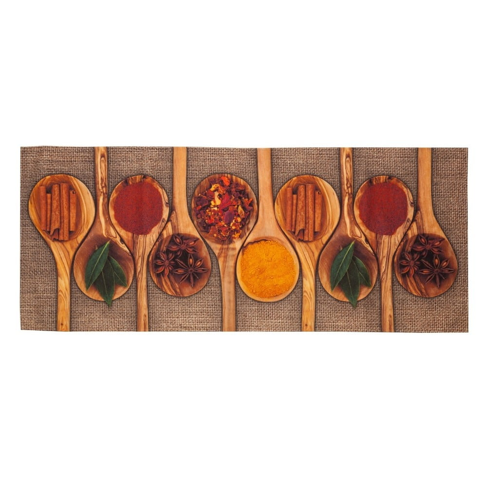 Vysokoodolný kuchynský koberec Floorita Spices, 60 × 150 cm