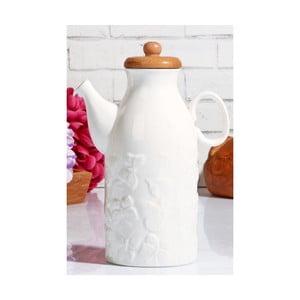 Porcelánová konvička s bambusovým viečkom Kutahya Brianne