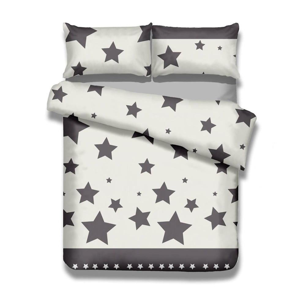 Sada bavlnenej obliečky na perinu a 2 obliečok na vankúše AmeliaHome Averi Starlight, 240 × 260 cm + 63 × 63 cm