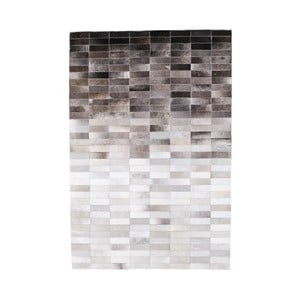 Sivý koberec z hovädzej kože Arctic Fur Patchwork Rug Nordic Day, 180 × 120 cm