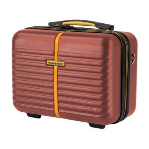 Hnedý kozmetický kufrík Travel World, 28×35cm