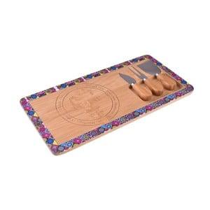 Bambusový set na servírovanie syra Bambum Nirvana Hima