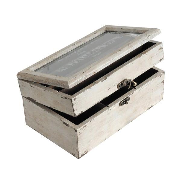 Drevený box White Antic
