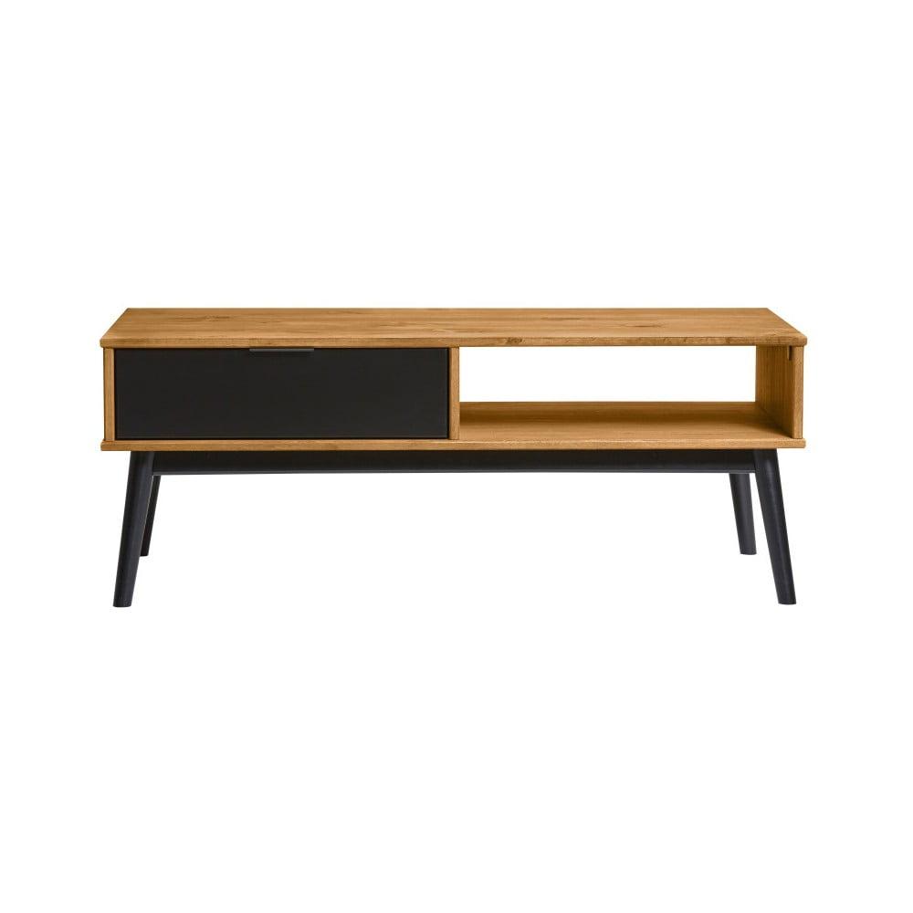 Konferenčný stôl s černou zásuvkou z borovicového dreva Marckeric Estela