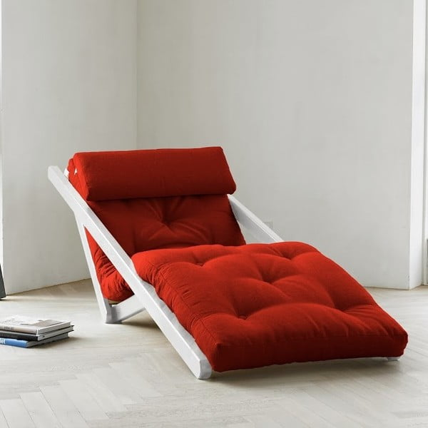 Leňoška Karup Figo White / Red,  70 cm