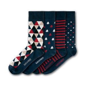 Sada 4 ponožiek Black&Parker London Castle Drogo, veľkosť 37 – 43