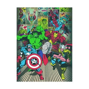 Obraz Pyramid International Marvel Comics Here Come The Heroes, 60 × 80 cm