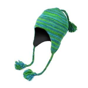 Vlnená čiapka s ušami Spacedye Tyrkys