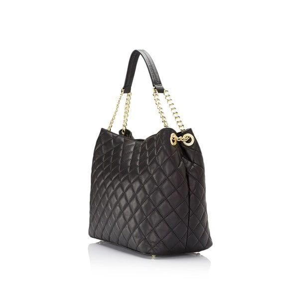 Čierna kožená kabelka Markese Liberata