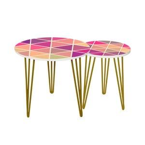 Sada 2 odkladacích stolíkov Triangle Puzzle, 35 cm + 49 cm