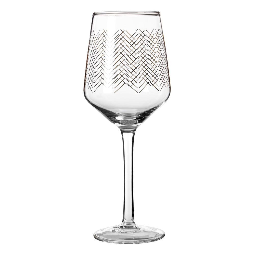 Sada 4 pohárov na víno Premier Housewares Gold Waves, 4,3 dl