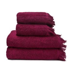 Set 2 vínovočervených bavlnených uterákov a2osušiek Casa Di Bassi Riad