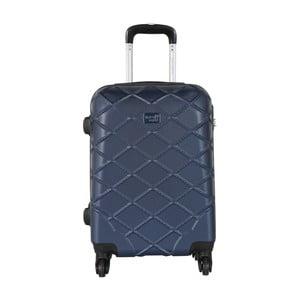 Modrá príručná batožina na kolieskach Travel World