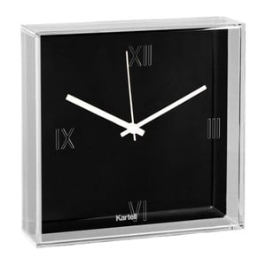 Čierne nástenné hodiny Kartell Tic Tac