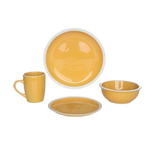 Servírovací riad Inca Yellow, 16 ks
