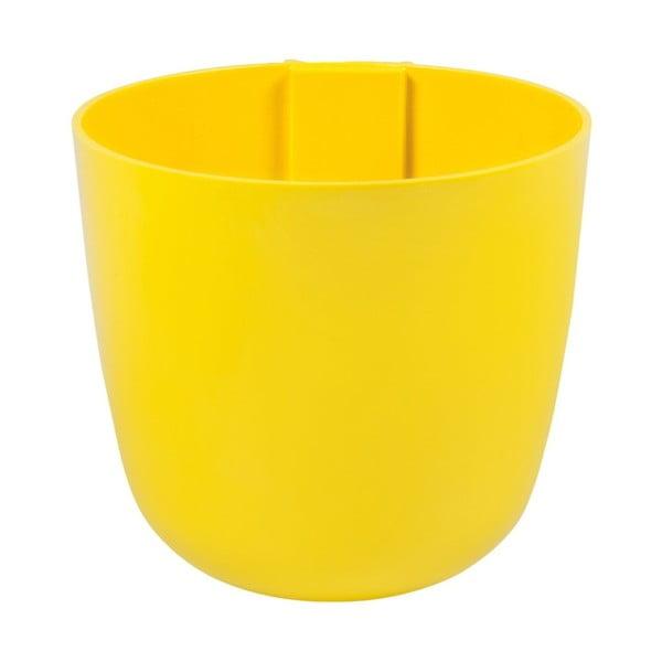 Magnetický kvetináč Bowl 16x14x16 cm, žltý