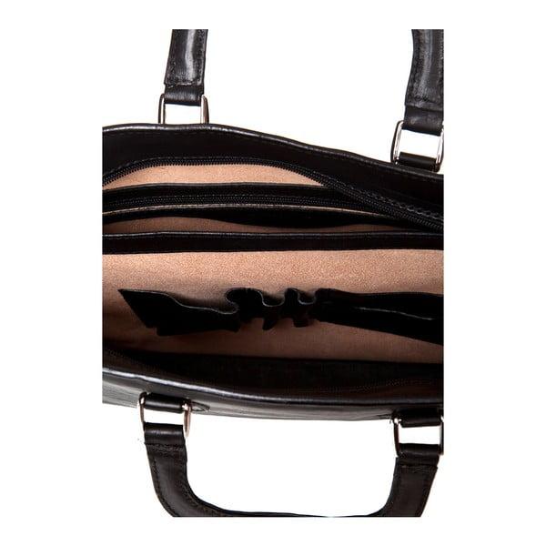 Čierna kožená taška Medici of Florence Bicci