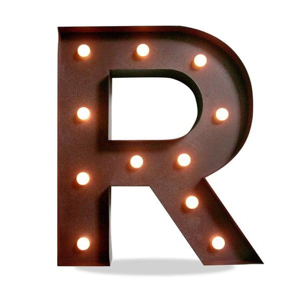 Svetelná LED dekorácia Letter R