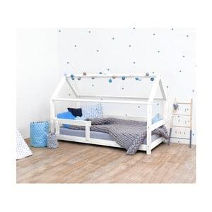 Biela detská posteľ zo smrekového dreva s bočnicami Benlemi Tery, 120×160 cm