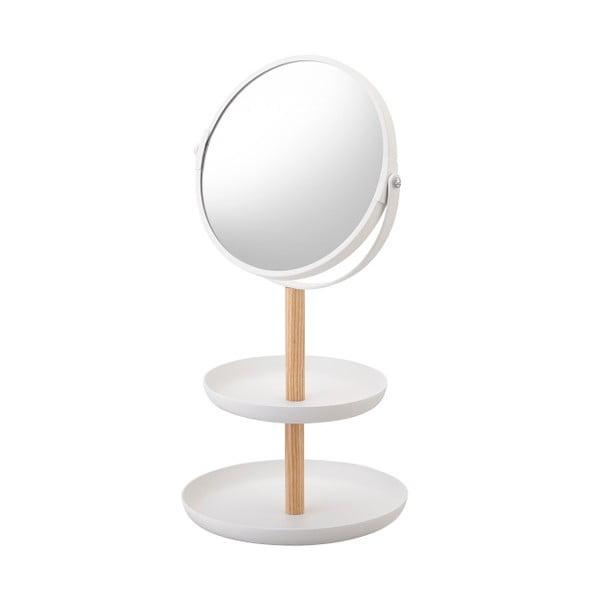 Biele zrkadlo s miskami YAMAZAKI Tosca